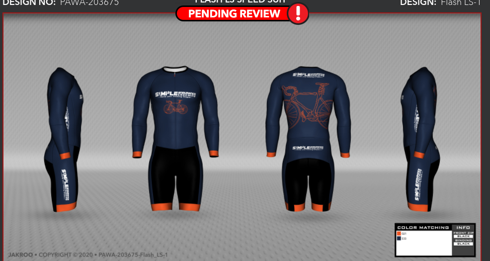 Cycling kit for Simple Endurance Coaching