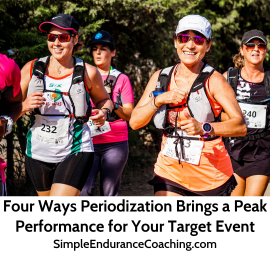Periodization is the tool to help you plan to peak for your target event. SimpleEnduranceCoaching.com